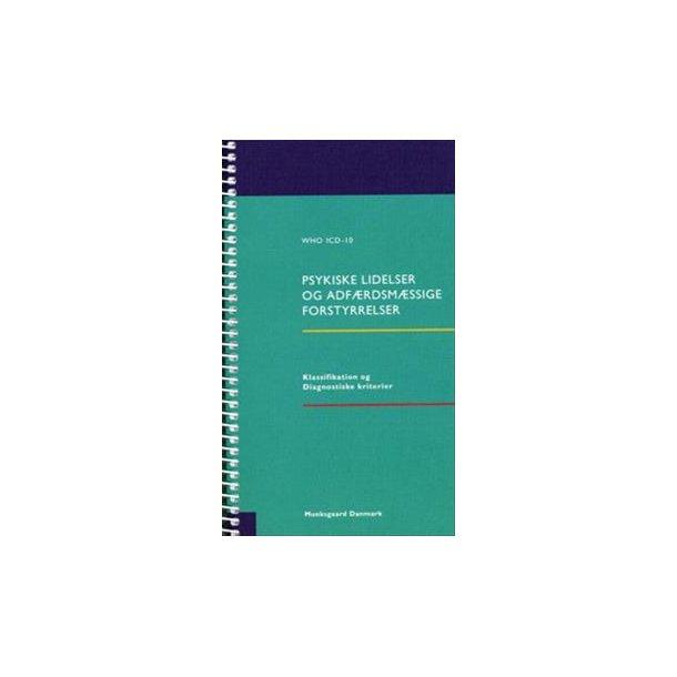 WHO ICD-10 - Psykiske lidelser og adførdsmæssige forstyrrelser